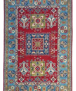 Handgeknoopt kazak tapijt 275x185 cm oosters kleed vloerkleed