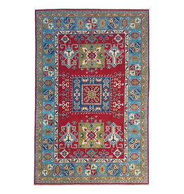 ZARGAR RUGS Hand knotted  9'x6'  wool kazak area rug 275x185 cm  Oriental carpet