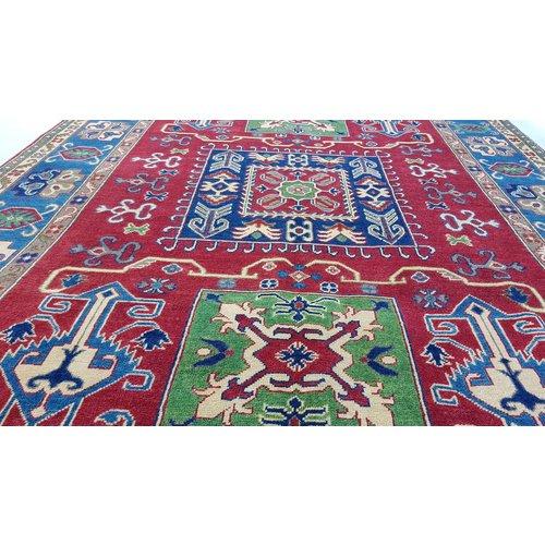 Hand knotted  9'x5'8  wool kazak area rug 278x178 cm  Oriental carpet