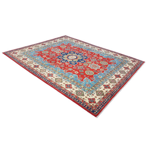 shal Hand knotted  9'11 x 7'8 wool kazak area rug 303x240 cm   Oriental carpet