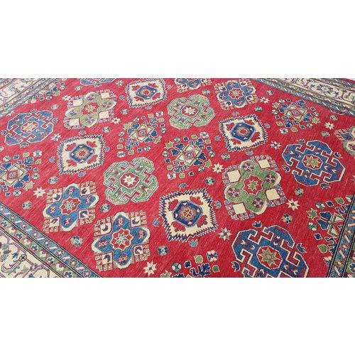 Handgeknoopt kazak tapijt 301x243 cm  oosters kleed vloerkleed