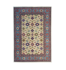 ZARGAR RUGS Hand knotted  9'x6'  wool kazak area rug 275x186 cm  Oriental carpet