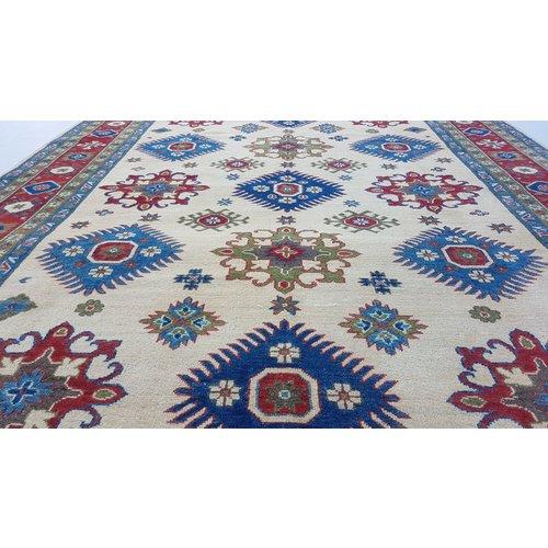 Hand knotted  9'x6'5  wool kazak area rug 283x199 cm  Oriental carpet