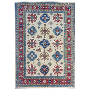 Handgeknoopt kazak tapijt 283x199 cm oosters kleed vloerkleed