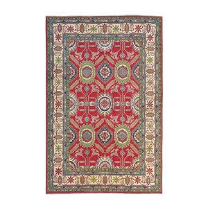 Hand knotted  9'8x 6'6 wool kazak area rug  299x203 cm   Oriental carpet