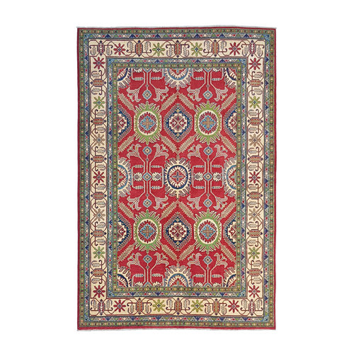 Handgeknüpft wolle kazak teppich 299x203 cm   Orientalisch  teppich