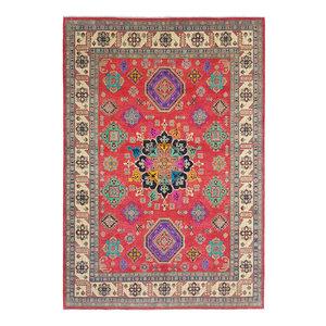 shal Hand knotted  11'6x 8'8 wool kazak area rug  356x269  cm  Oriental carpet
