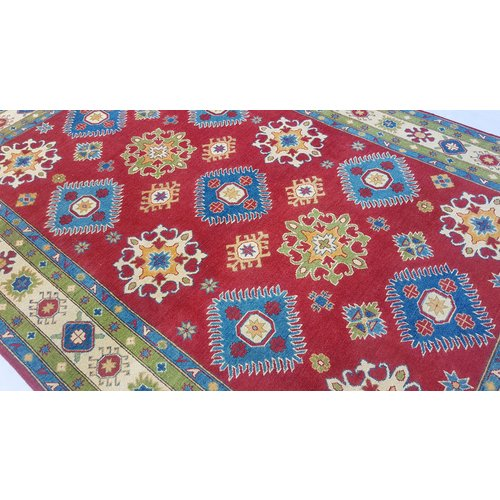 Handgeknüpft wolle kazak teppich 295x200 cm   Orientalisch  teppich