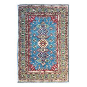 Hand knotted  9'6x 6'5 wool kazak area rug  295x200 cm   Oriental carpet