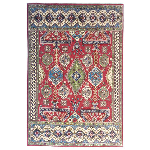 Handgeknüpft wolle kazak teppich 292x205 cm   Orientalisch  teppich