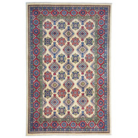 Hand knotted  9'6x6'  wool kazak area rug  293x196 cm   Oriental carpet