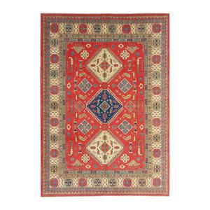 Handgeknüpft wolle kazak teppich  356x275  cm   Orientalisch teppichboden