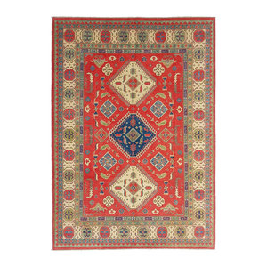 shal Hand knotted  11'6x 9' wool kazak area rug  356x275  cm  Oriental carpet