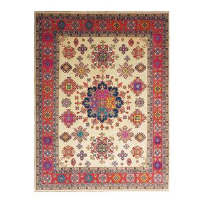 Handgeknüpft wolle kazak teppich  358x280 cm   Orientalisch teppichboden