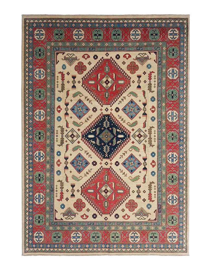 ZARGAR RUGS Handgeknüpft wolle kazak teppich  362x273 cm   Orientalisch teppichboden