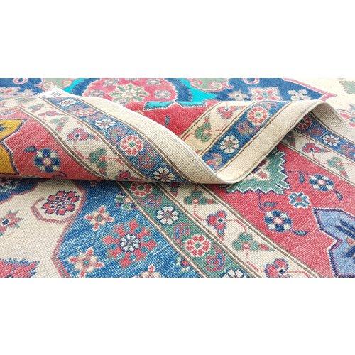 Handgeknoopt kazak tapijt 356x279 cm  oosters kleed vloerkleed