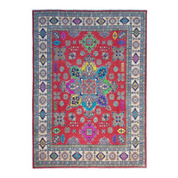 Hand knotted  10'x 8' wool kazak area rug  314x244 cm  Oriental carpet