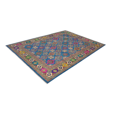 Hand knotted  11'5x 8'6 wool kazak area rug  353x264 cm  Oriental carpet