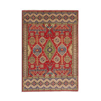 Hand knotted  9'x6'8 wool kazak area rug 288x208 cm  Oriental carpet