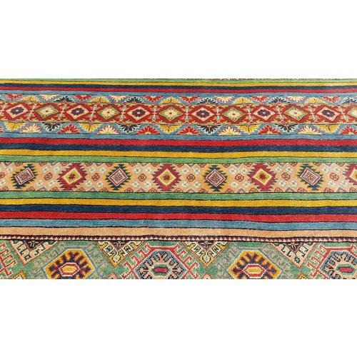 shal Handgeknoopt kazak tapijt  291x210 cm  oosters kleed vloerkleed