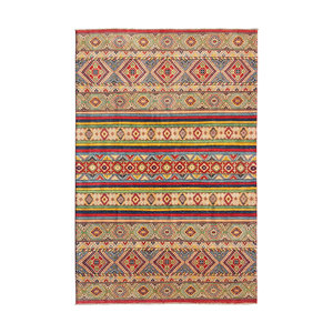 shal Hand knotted  9'5x6'8 wool kazak area rug   291x210 cm   Oriental carpet