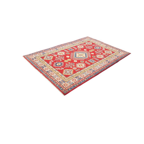 Hand knotted  9'7x6'5  wool kazak area rug  297x201 cm   Oriental carpet