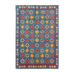 Hand knotted  9'x6'  wool kazak area rug 287x197 cm  Oriental carpet