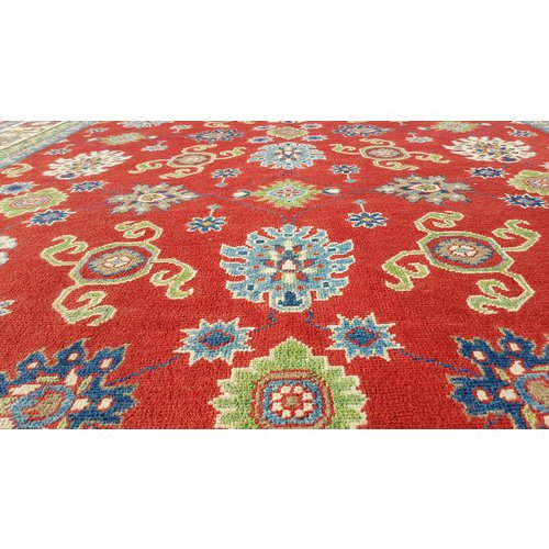 Hand knotted  9' x 6'5 wool kazak area rug  289x201 cm Oriental carpet