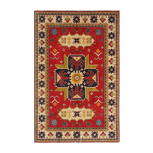 Hand knotted  8'9 x 6' wool kazak area rug  272x186 cm Oriental carpet
