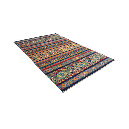 shal Hand knotted  9'8x6'  wool kazak area rug  295x193 cm   Oriental carpet