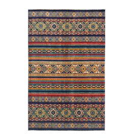ZARGAR RUGS shal Hand knotted  9'8x6'  wool kazak area rug  295x193 cm   Oriental carpet