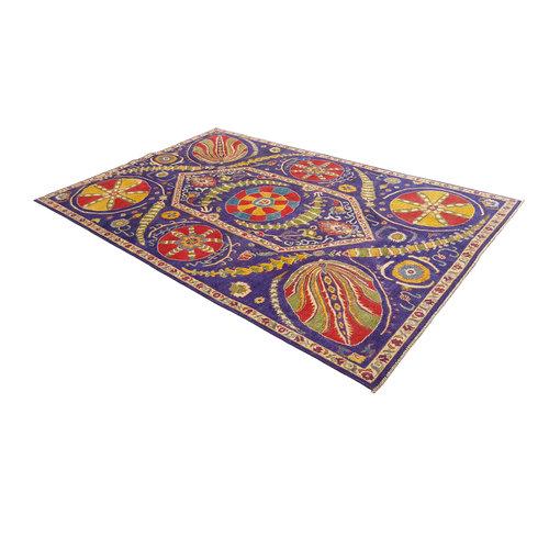 Handgeknoopt kazak tapijt 294x198 cm  oosters kleed vloerkleed
