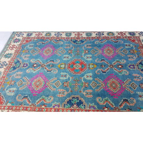 Hand knotted  8'5x 5'9 wool kazak area rug  260x181 cm   Oriental carpet