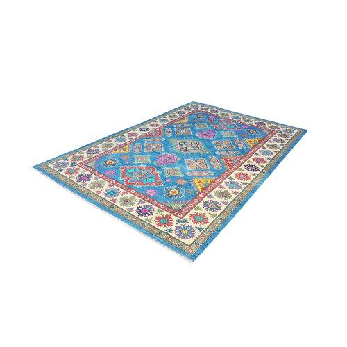Hand knotted  9'5x6' wool kazak area rug   291x193 cm   Oriental carpet