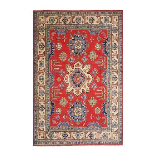 Handgeknüpft wolle kazak teppich 369x274 cm   Orientalisch  teppich