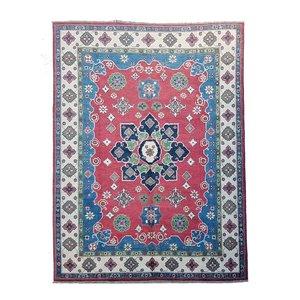 Hand knotted  10'x6'6 wool kazak area rug  305x202 cm  Oriental carpet