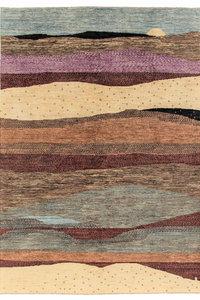Handgeknoopt Modern Art Deco tapijt 294x200 cm  oosters kleed vloerkleed design75