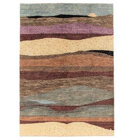 ZARGAR RUGS Handgeknüpft Modern Art Deco 294x200 cm Abstrakt Wolle Teppich design75