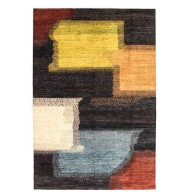 ZARGAR RUGS Handgeknüpft Modern Art Deco 298x199 cm Abstrakt Wolle Teppich design18