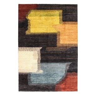 Hand knotted 9'7x6'5 Modern  Art Deco Wool Rug 298x199 cm  Abstract Carpet design18