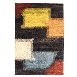 Handgeknoopt Modern Art Deco tapijt 298x199 cm  oosters kleed vloerkleed  design18