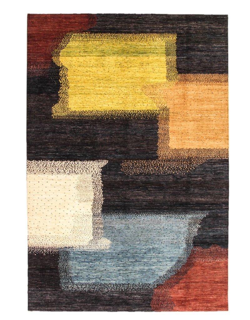 ZARGAR RUGS Handgeknüpft Modern Art Deco 298x199 cm Abstrakt Wolle Teppich