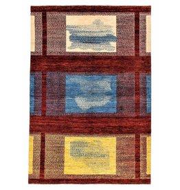 ZARGAR RUGS Hand knotted 9'8x6'5 Modern  Art Deco Wool Rug 301x199 cm  Abstract Carpet  Design82