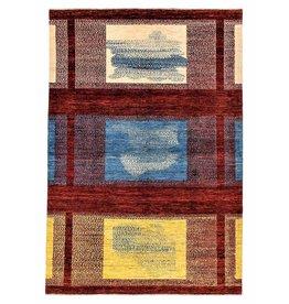 ZARGAR RUGS Handgeknüpft Modern Art Deco 301x199 cm Abstrakt Wolle Teppich Design82