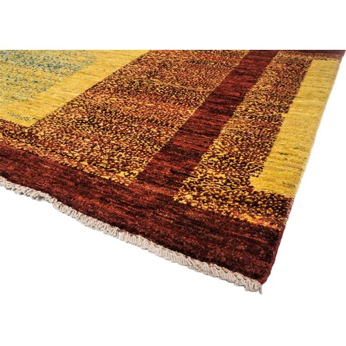 Hand knotted 9'8x6'5 Modern  Art Deco Wool Rug 301x199 cm  Abstract Carpet