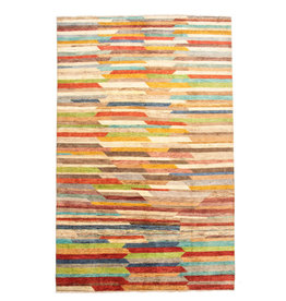 ZARGAR RUGS Hand knotted 10'x6' Modern  Art Deco Wool Rug 310x195 cm  Abstract Carpet   design multi