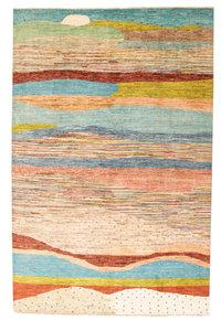 Handgeknoopt Modern Art Deco tapijt 298x194 cm  oosters kleed vloerkleed  design75