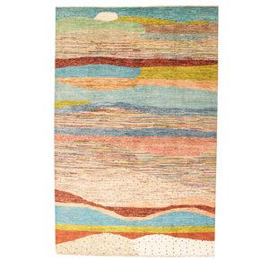 Handgeknüpft Modern Art Deco 298x194 cm Abstrakt Wolle Teppich design75