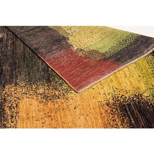Handgeknoopt Modern Art Deco tapijt 294x211 cm  oosters kleed vloerkleed
