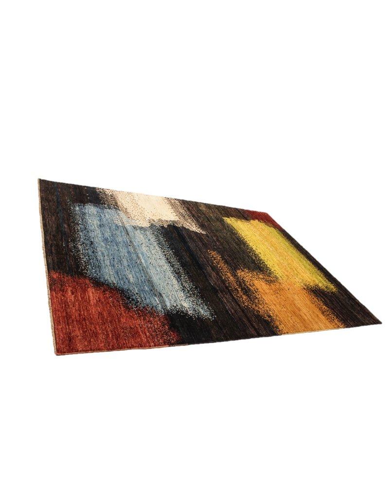 ZARGAR RUGS Handgeknüpft Modern Art Deco 294x211 cm Abstrakt Wolle Teppich